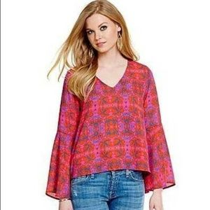 Collective Concepts Stitch Fix Carpet Print Blouse